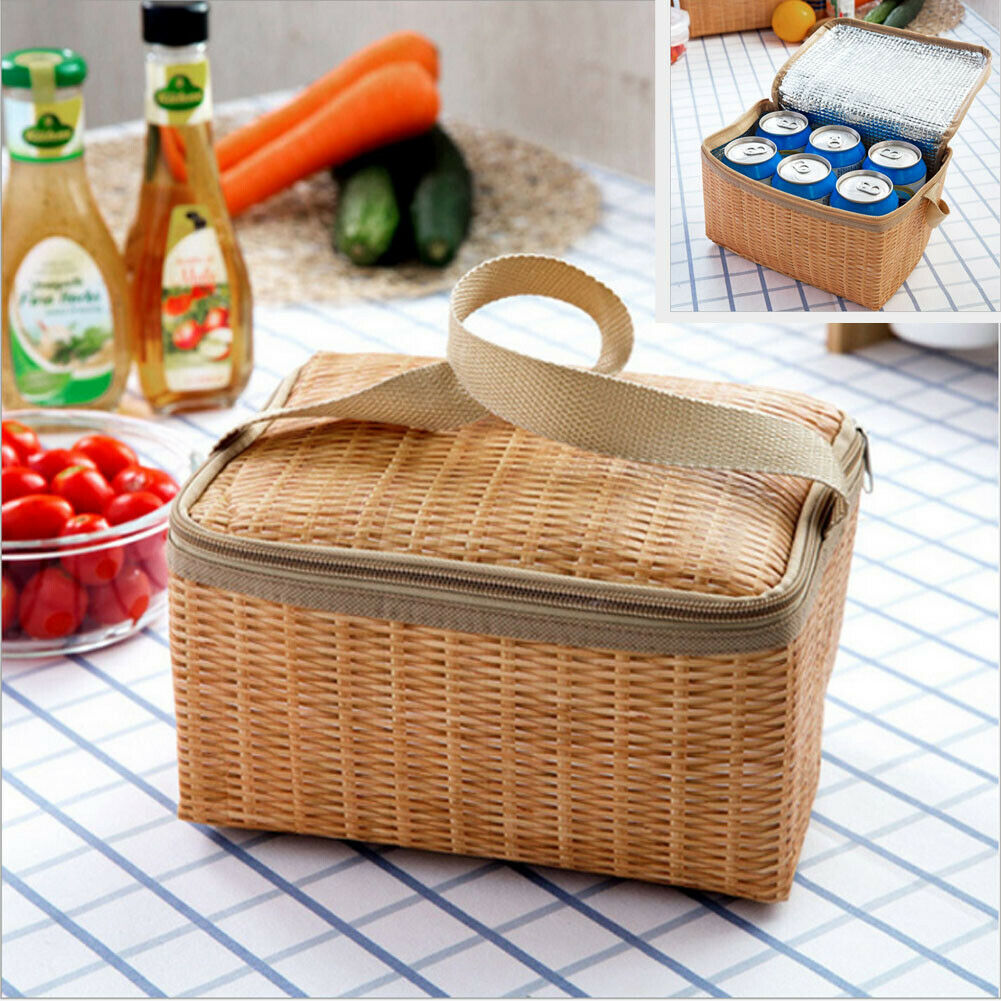 Portable Insulated Thermal font b Cooler b font Lunch Box Carry Tote Picnic Case Storage font