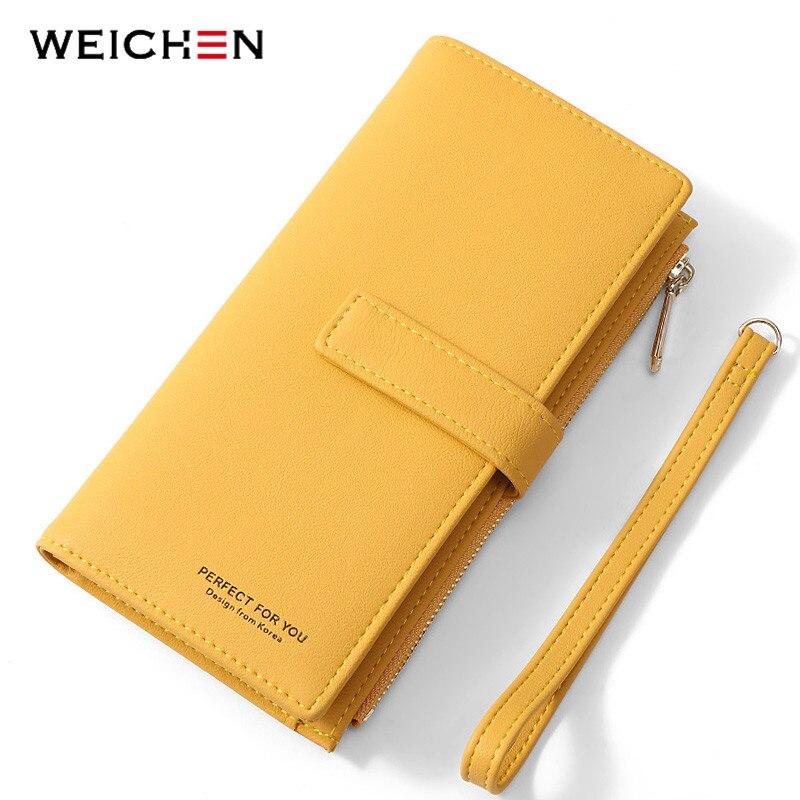 WEICHEN Armband Brieftasche Viele Abteilungen Carteira Weibliche Portfel Geldbörsen Frauen Geldbörse Damen Zipper Handy Tasche Kupplung Geldbörsen