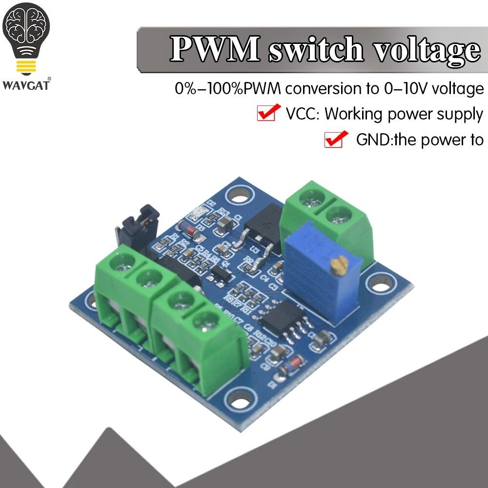 PWM В модуль преобразователя Напряжения 0%-100% до 0-10V для PLC MCU цифрового сигнала в аналоговый, PWM Регулируемый преобразователь, модуль питания