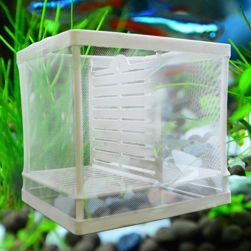 Water Isolation Net Hatchery Aquarium Fish Breeder Box Hatching Box Fish Isolation Box Juvenile Fish Spawning Incubator Square