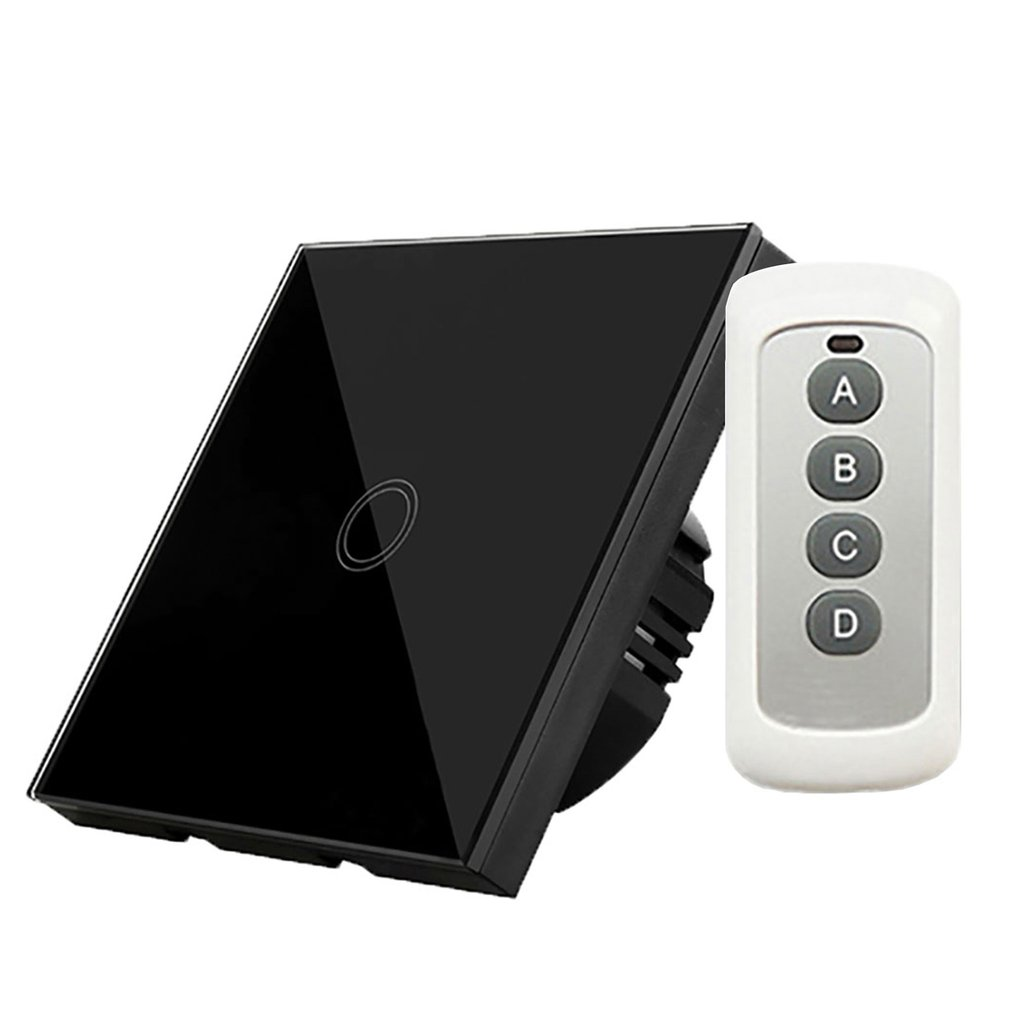Portable EU Standard Touch Switch AC 110-240V Wall Light Remote Control With Mini Controller Y601B