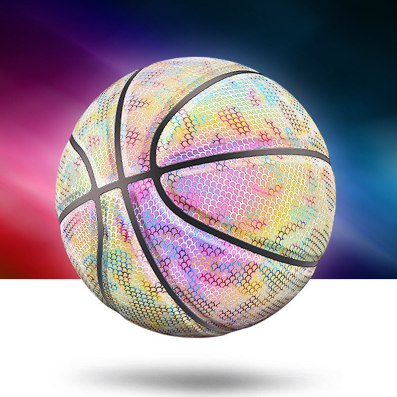 Glowing Reflective Basketball Night Colorful Wear-Resistant Basketball Sports Ball YS-BUY