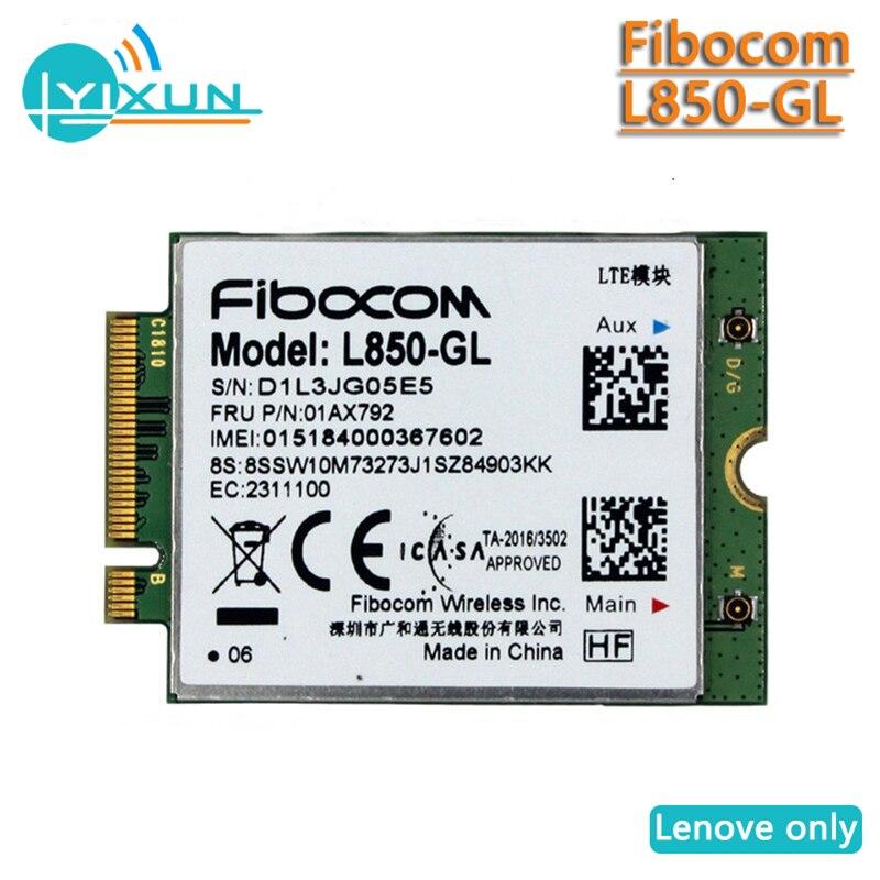 Fibocom L850-GL WWAN Card 4G LTE Wireless Module FRU 01AX792 01AX791 02HK712 X1 Carbon 6TH Antenna T490 T590 X390 X380 L580 P52