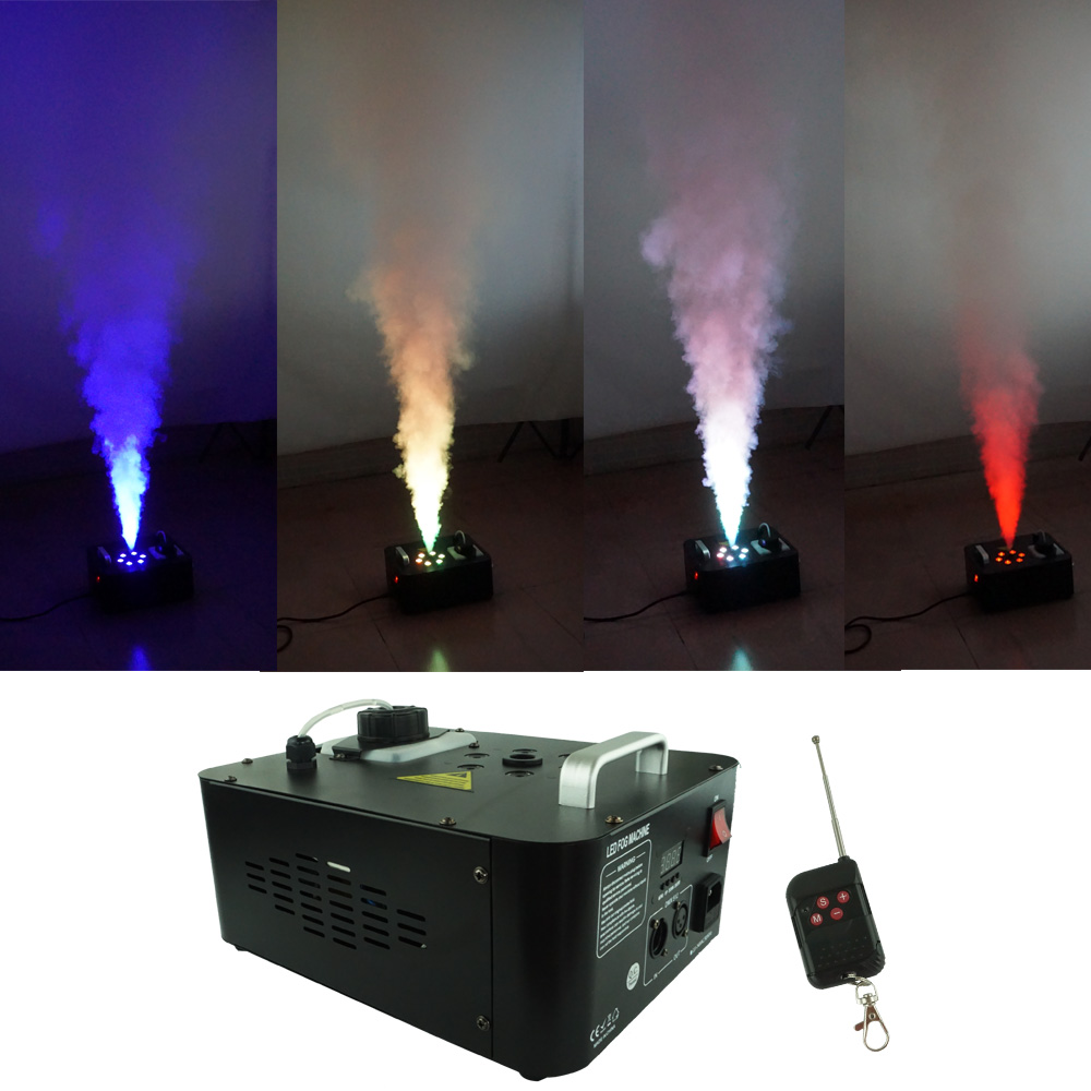 Sharelife 1000W DMX Remote RGB LED Color Air Column White Smoke Fog Machine For DJ Party Show Club KTV Stage Lighting Effect