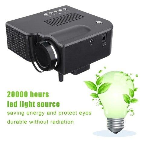 mini projetor profissional yg300 full hd1080p home theater led projetor lcd media player projetor amarelo
