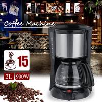 2019 NEW 2000ml Household Office American Style Drip Tea/Coffee Making Machine 12 Cups Coffee Maker 900W Temperature Control