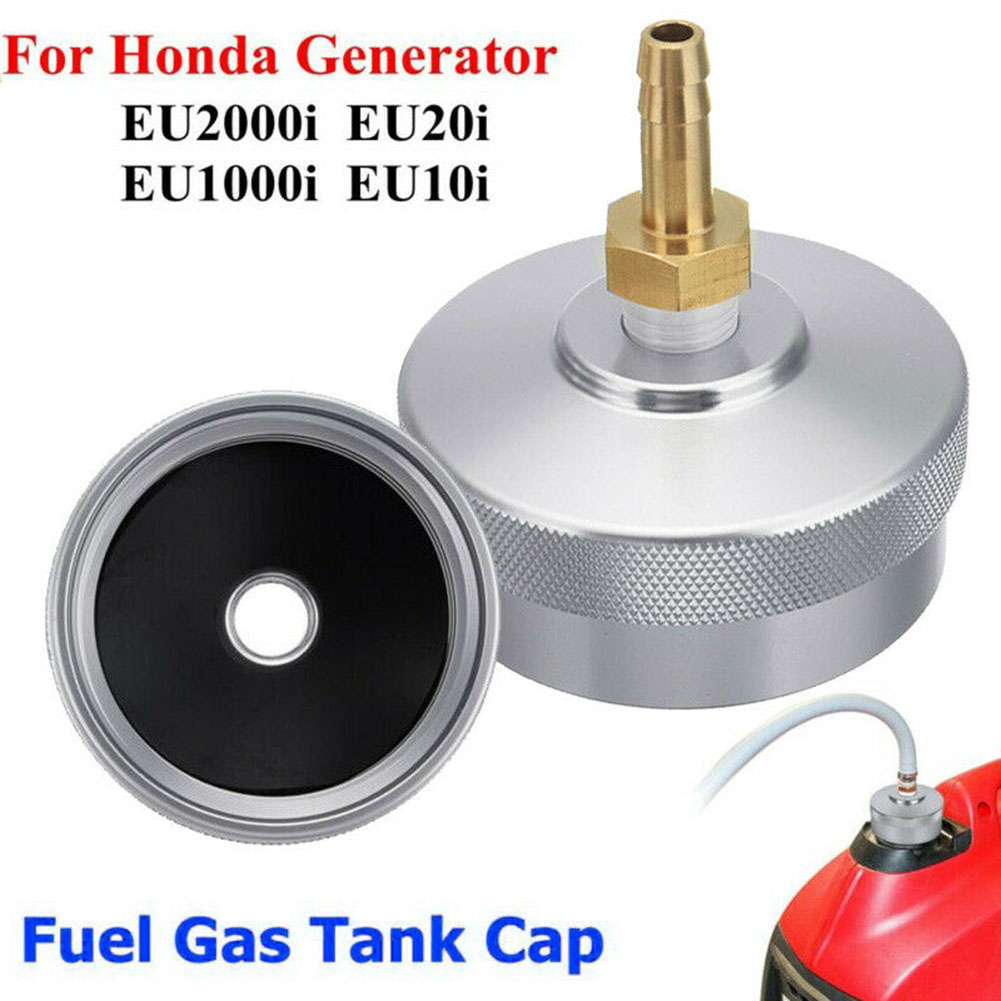 Aluminum Gas Fuel Petrol Tank Cap Replacement Lid Extended Run Fuels Gas Cap Fit For <font><b>Honda</b></font> <font><b>Generator</b></font> EU2000i <font><b>EU20i</b></font> EU1000i EU10i image