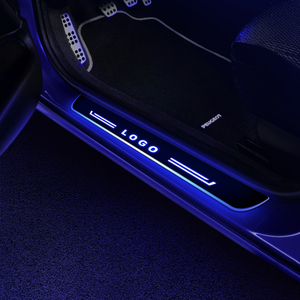 Image 5 - Car LED Door Sill for Adi A8 4D2 4D8 4E2 4E8 4H2 4H8 4HC 4HL 4N2 4N8 1994   2020 Door Scuff Plate Welcome Light Car Accessories