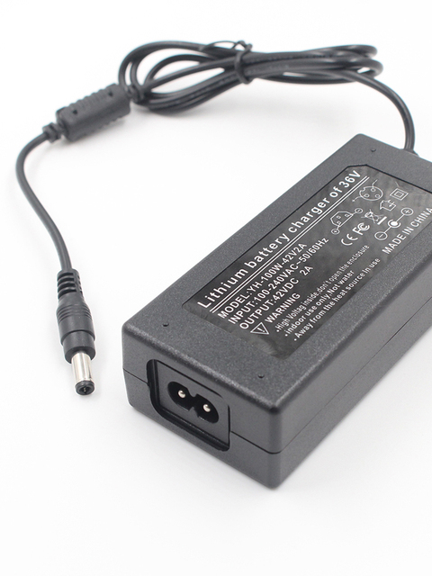 42V2A 10 Serie Lithium Batterij Oplader 36 V 18650 Lader Voor 36 V 2A Elektrische Fiets Powerboard Lithium Batterij scooter