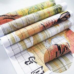 Image 4 - Набор для вышивки крестиком 11CT 14CT с яркими узорами