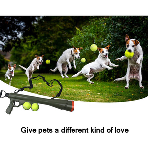 Tennis Training Tool Exercise Treat Launcher Toys Home Pet Ball Dog Toy Funny Pet Dog Gun Toy Training Muzzle Catapult Incentive