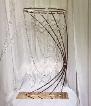 Грандиозное событие хрустальный свадебный цветок стенд цветочный стеллаж ваза для торта держатель для свадьбы День рождения отель стол це... - 2