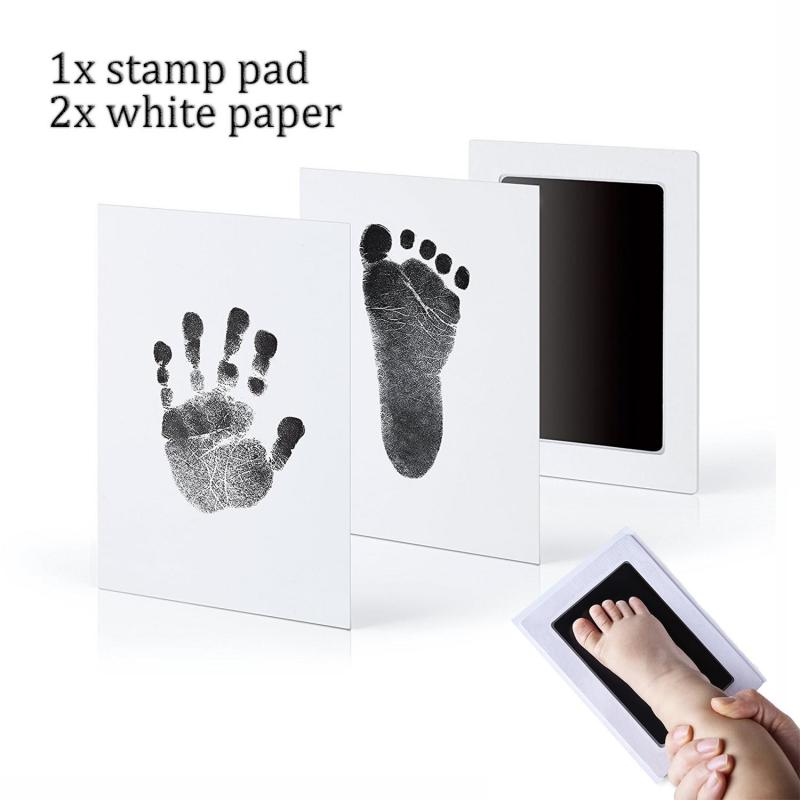 Newborn Baby Handprint Footprint Inkless Non-Toxic Touch Ink Pad DIY Photo Frame Infant Stamp Pad Souvenirs Gift Decoration Toy