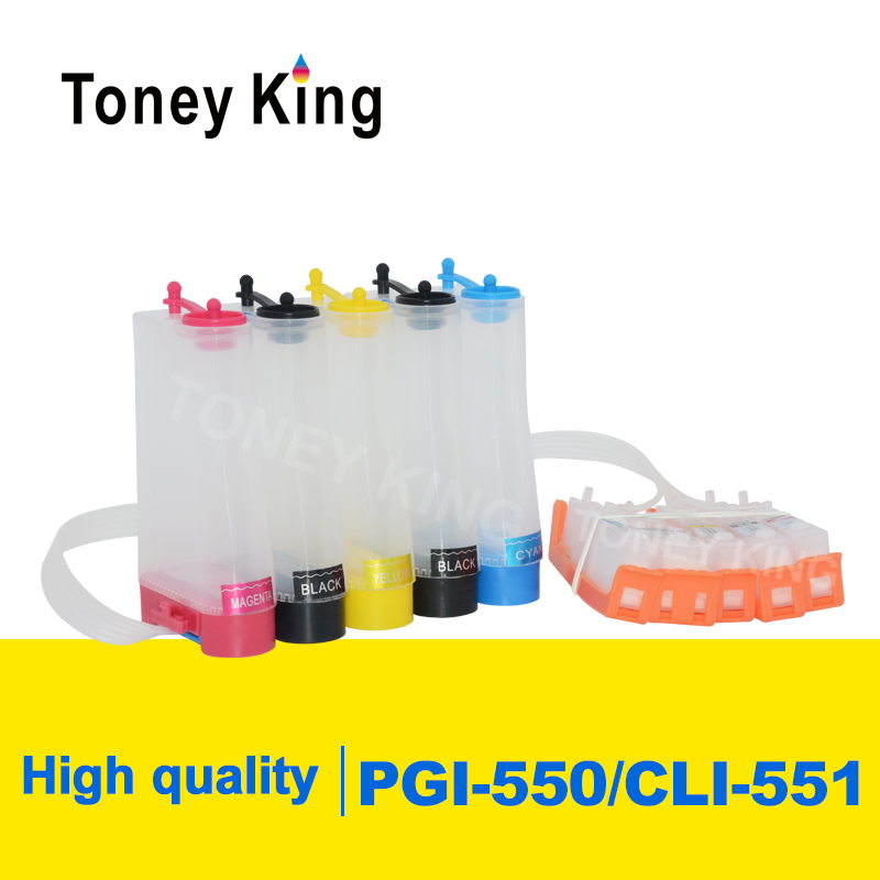 Toney King PGI-550 CLI-551 <font><b>CISS</b></font> Ink Supply System For <font><b>Canon</b></font> PIXMA MG5450 <font><b>MG5550</b></font> MG5650 MG6350 MG6450 MG6650 MG7150 Printer image