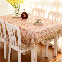 Luxury retro high-end cloth table cloth home golden lace tea table cloth TV cabinet cover dark high-end products