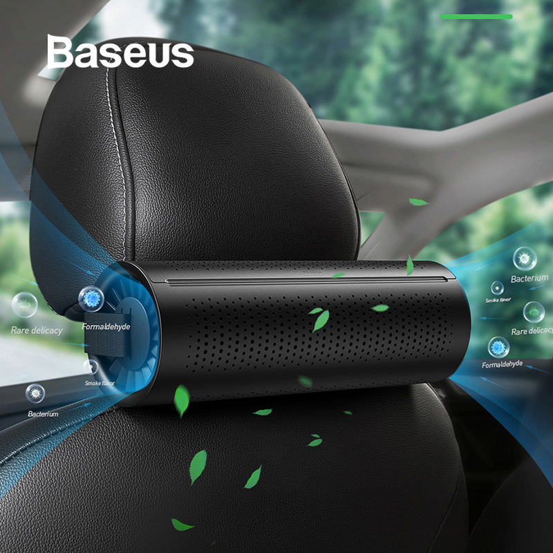 Baseus Car Air Purifier Vehicle Air Cleaner Air Freshener Auto Mist Maker Pm2.5 Eliminator Activated Carbon Crystal Purifying