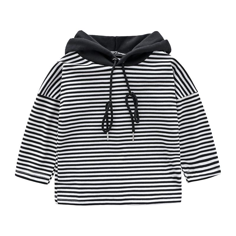 Sweatshirt Toddler Clothing Hooded Baby-Girls Fashion Children Fall New Korean Striped