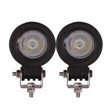 2 pezzi 10W LED luce di lavoro moto auto ATV SUV camion vagone CAMPER bicicletta 12V 24V SPOT FLOOD guida faro fendinebbia ausiliario