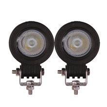 2 pçs 10w led luz de trabalho motorcyle carro atv suv caminhão camper bicicleta 12v 24v ponto inundação condução farol auxiliar nevoeiro lâmpada