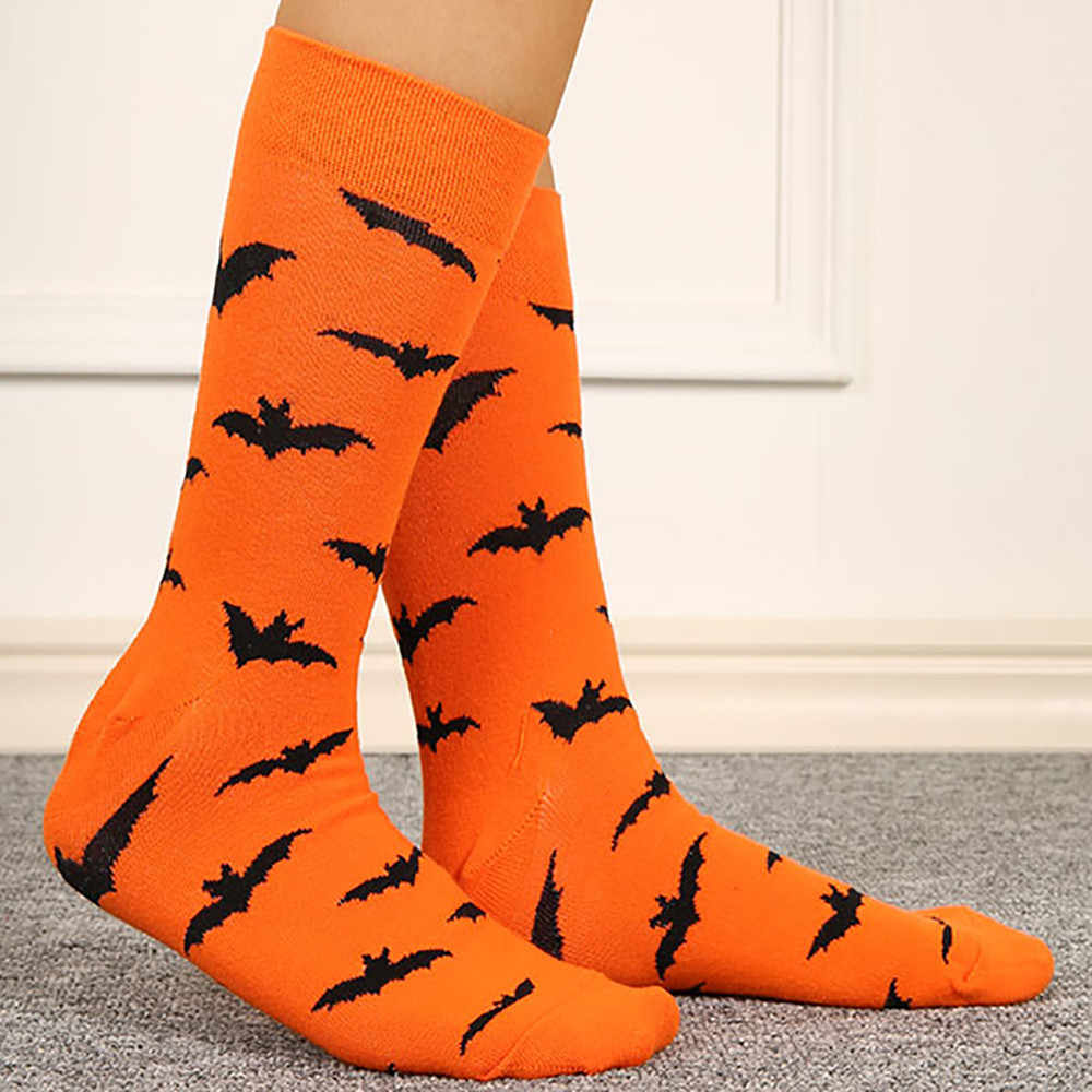 2019 Halloween Bats and Pumpkin Pattern Cotton Socks Harajuku Style Fashion High Quality Party Cute Nolvety Cosplay 8.27