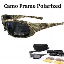 Тактические камуфляжные Мужские поляризационные очки, военные очки для стрельбы, охоты, 4 линзы, набор солнцезащитных очков, мужские походные очки