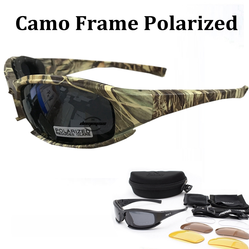 Tactical Camouflage Men's Polarized Glasses Military Shooting Hunting Goggles 4 Lens Kit Sunglasses Men Hiking