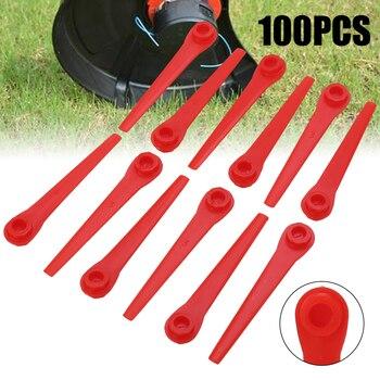 100Pcs Plastic Grass Trimmer Blades Replacement Lawn Mower Blade For Grass Trimmer Garden Tool Accessories