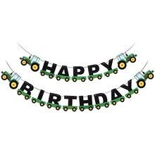 Ciągnik urodziny Banner wiszące banery ozdoby Garland trznadel wisiorek dla dzieci urodziny sprzyja dostaw dekoracje