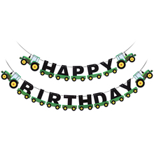 Tractor Birthday Banner Hanging Banners Ornaments Garland Bunting Pendant For Kids Birthday Party Favors Supplies Decorations