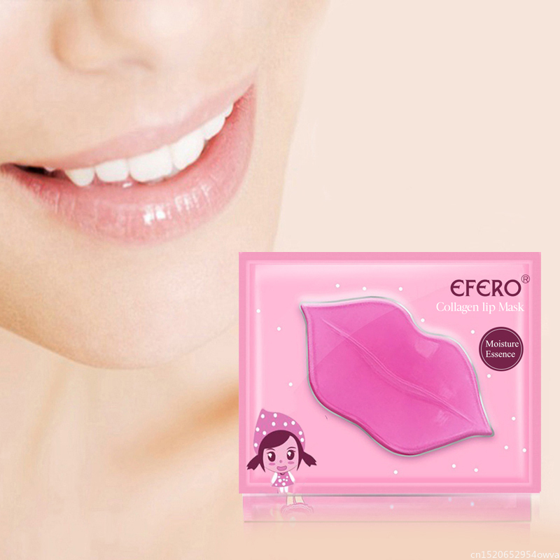 EFERO 1pcs Collagen Lip Mask Pads Patch For Lips Moisturizing Nourishing Exfoliating Lips Plumper Lip Scrub Skin Care TSLM1