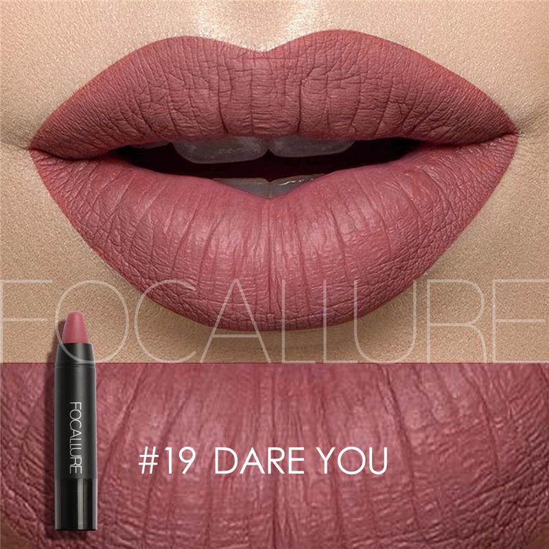 FOCALLURE Cosmetics Matte Lipstick High Gloss Lip Make Up Lips Crayons  Long Lasting  Waterproof Lipsticks 27 Colors