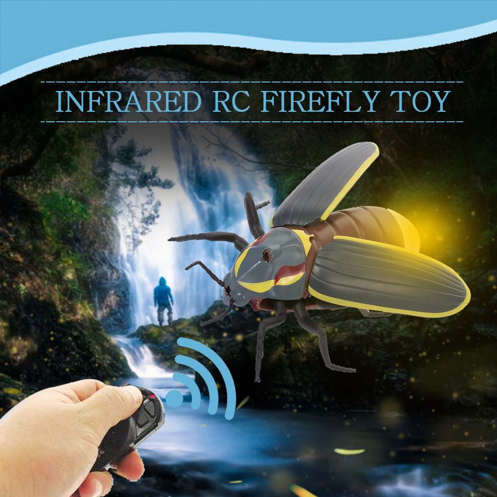 RC Firefly Toys Simulated Insect Toy Infrared Sensing Portable Gift for Kid D4U1
