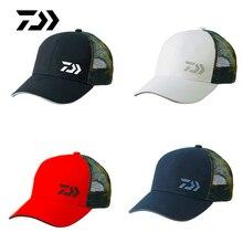Daiwa рыбацкие шляпы Летние солнцезащитные козырьки анти-УФ Защита от солнца шапки дышащий Регулируемый Открытый Бег Туризм Спорт Гольф сетка Кепка