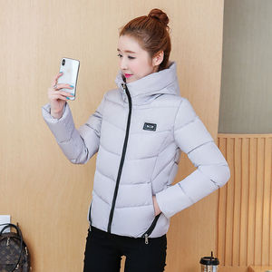 Image 1 - Winter Parka Jacket Women Short Coat Down Cotton Female Warm Thick Clothing Autumn Outerwear Quilted Fall Sport Hooded Zipper
