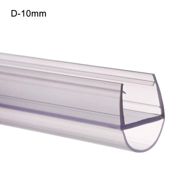 YMSWTF 4-12mm Tenuta Strisce Water deflettore Gap Window Guarnizione Vetro paraspifferi Vasca Bagno Accessori Hardware Color : A 12MM