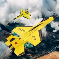 Avión planeador de FX-820 de 2,4G y 2 canales, avión RTF, UAV, regalo de Navidad para niños, modelo volador ensamblado resistente a las caídas, SU-35