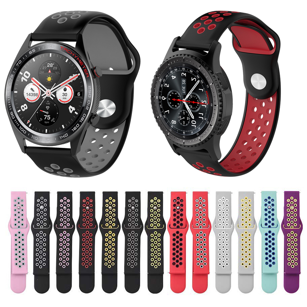 20mm 22mm Wrist Strap For Huawei GT Honor Magic Samsung Gear S2 S3 42 46 Active Amazfit GTR Watchband Silicone Smart Watch Band