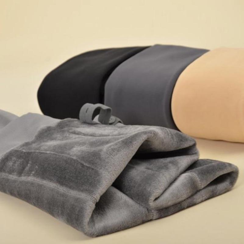 Plus Velvet Thickening Pregnancy Warm Leggings High Waist Stomach Lift Adjustable Belt Pregnant Pantyhose Winter Maternity Cloth