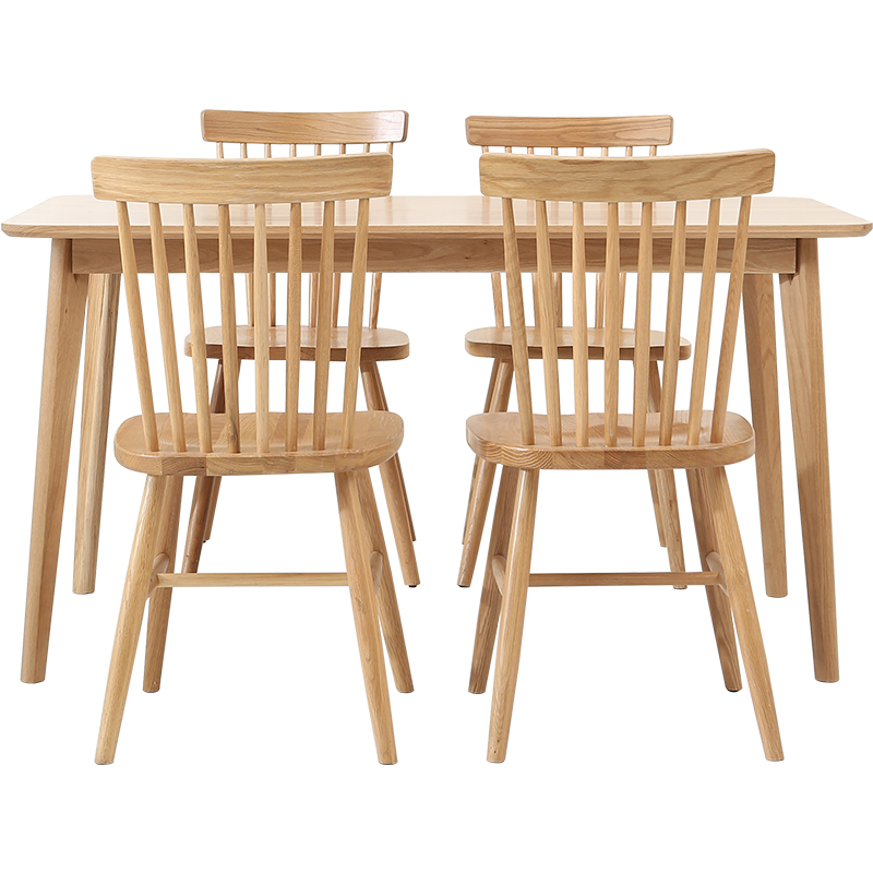 Windsor chair Nordic home solid wood dining   wooden  simple modern casual cafe ins