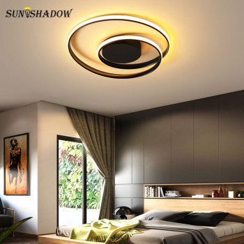 Modern Chandeliers LED Lamp For Living Room Bedroom Study Room Lustres White Black surface mounted Chandelier Lighting Lamp Deco modern black chandelier lighting for living room bedroom wedding decoration chandeliers lamp hanging suspension modern lighting