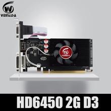 Графический процессор Veineda видеокарты HD6450 2 ГБ DDR3 HDMI графическая видеокарта PCI Express для ATI Radeon Gaming