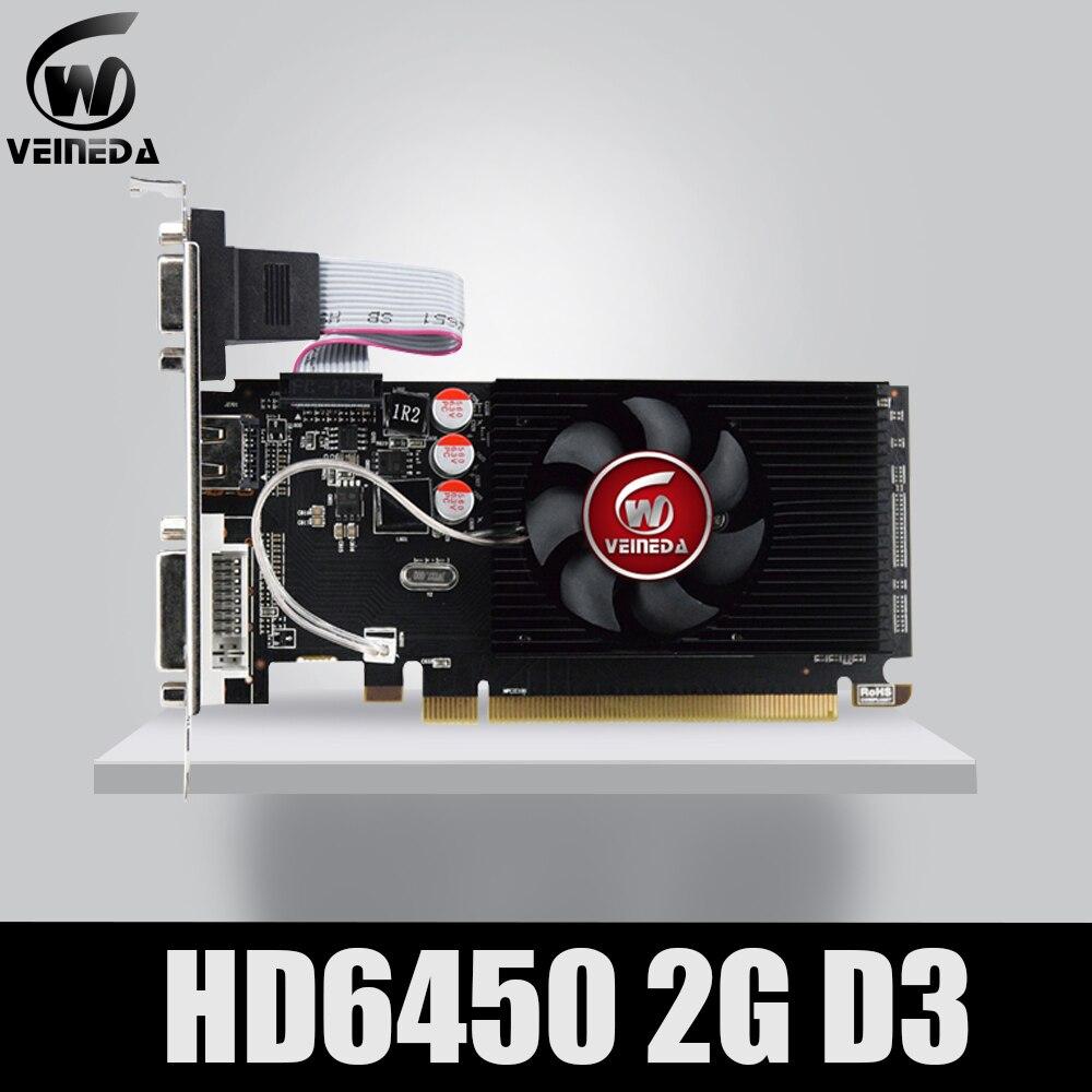 Оригинальный графический процессор Veineda, графические карты HD6450 2 ГБ DDR3, графическая видеокарта PCI Express для игр ATI Radeon