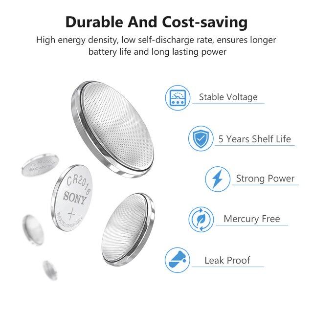 4 unids/lote Original batería a estrenar para SONY cr2016 pila de botón 3v baterías para reloj ordenador cr 2016 DL2016 KCR2016
