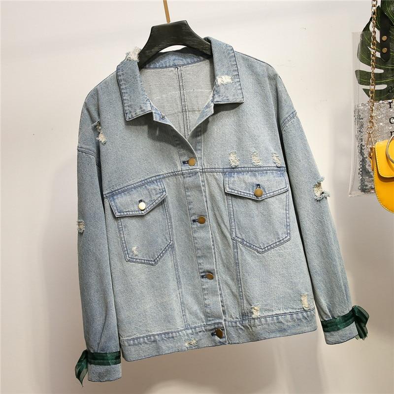 Dhfinery mulheres denim jaqueta primavera outono azul