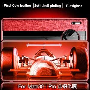 Image 5 - 高級本革ケース Huawei 社メイト 30 プロケースレザー耐震バックカバー funda Mate30 プロプロテクターケース