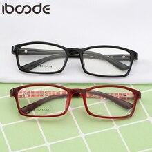 Iboode Детские квадратные очки, оправа для мальчиков и девочек, ультралегкие весенние оптические Sepectacles для детей, простые зеркальные очки