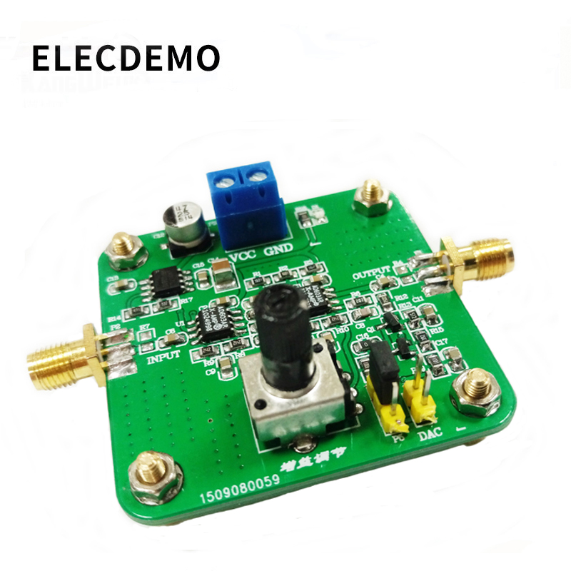 AD603 Tunable Gain Amplifier Module DA Input Programmable Voltage Amplifier AGC Competition Module