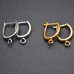 Image 5 - Nickle Free Anti rust color Plain Metal Earring Hooks Jewelry Findings 50pc Per Lot