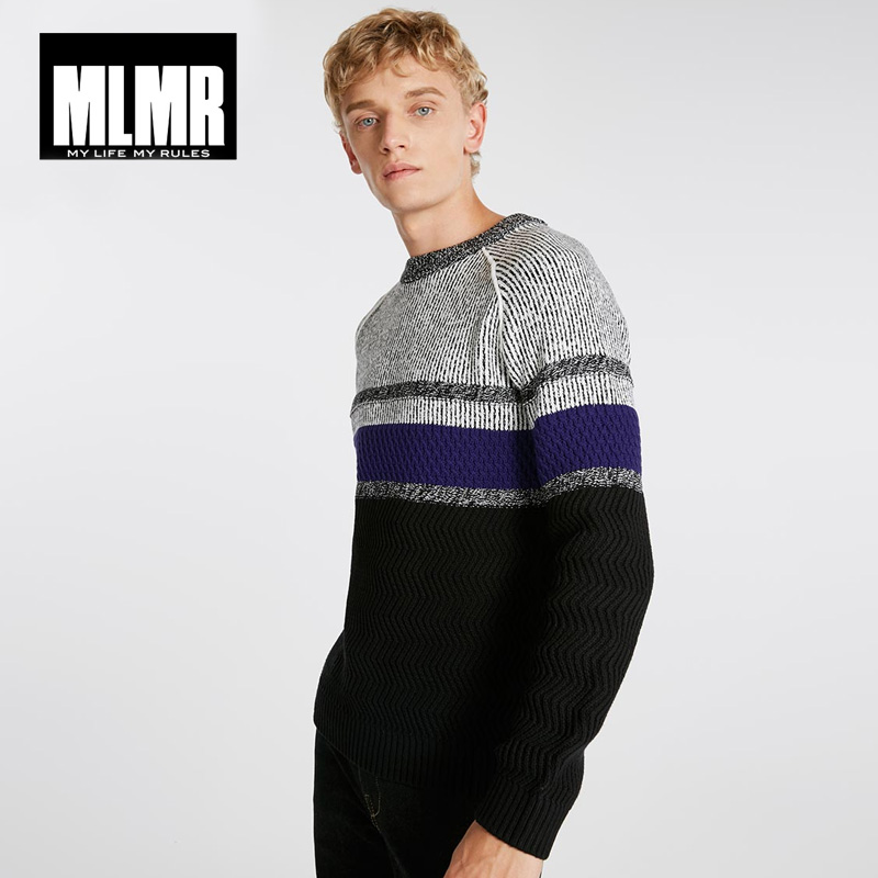 Jack Jones Winter Color Stripe Turtleneck Sweater|218425506