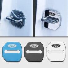 Fechadura da porta decoração capa de proteção emblema caso para ford fiesta ecosport escort foco 1 foco 3 foco 2 acessórios